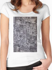 BRAIN CELL - LARGE FORMAT Women's Fitted Scoop T-Shirt