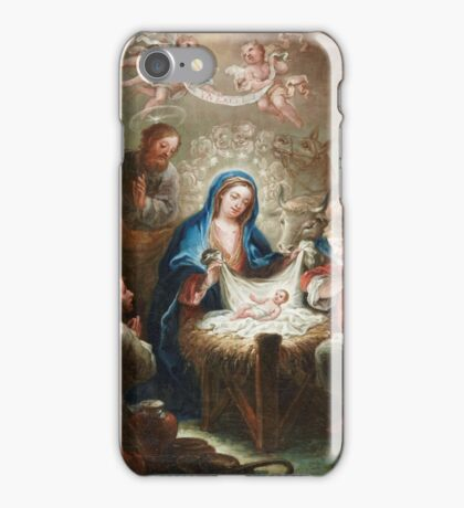 Isidoro Tapia (Valencia - Madrid ) ,The Adoration of the shepherds The Annunciation The Betrothal The birth of the Virgin iPhone Case/Skin