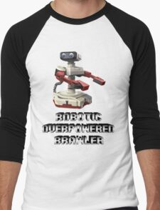 R.O.B. Robotic Overpowered Brawler SSB4 (Smash Bros Parody) Men's Baseball ¾ T-Shirt