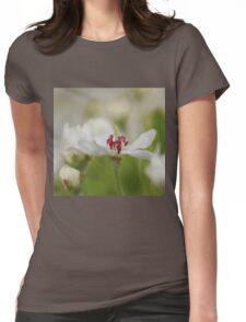 Macro Korean Sun Pear Blossom 2 Womens Fitted T-Shirt