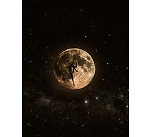 Surreal Moon Climber Photographic Print