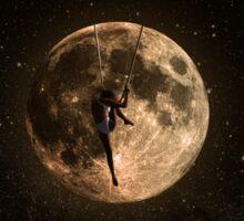 Surreal Moon Climber Sticker
