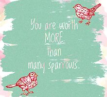 More than Sparrows Mint by TheArtfulAnnaWu