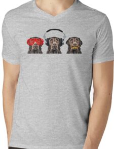 Silence of the Labs Mens V-Neck T-Shirt