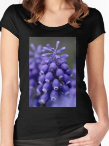 Macro Grape Hyacinth 1 Women's Fitted Scoop T-Shirt