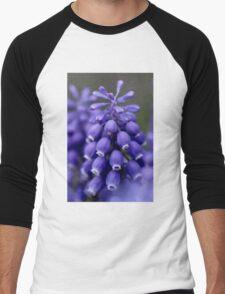 Macro Grape Hyacinth 1 Men's Baseball ¾ T-Shirt