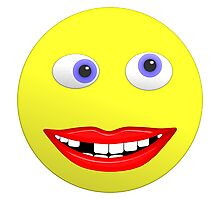 Smiley Ugly Cross Eyed Missing Teeth Photographic Print