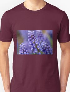 Macro Grape Hyacinth Blossoms 2 Unisex T-Shirt