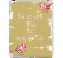 More than Sparrows Gold iPad Case/Skin