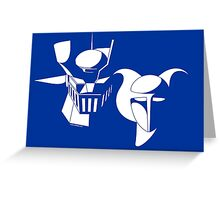 Manga Robots Greeting Card