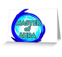 Master of Aura Lucario SSB4  Greeting Card