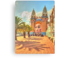 Luna Park with palms Canvas Print