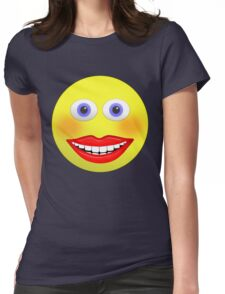 Smiley Female With Big Smiling Mouth Womens Fitted T-Shirt