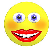 Smiley Female With Big Smiling Mouth Photographic Print