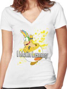 I Main Lemmy - Super Smash Bros  Women's Fitted V-Neck T-Shirt
