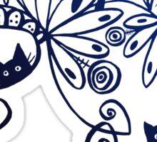 happy kittens Sticker