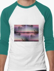 landscape lake at sunset Men's Baseball ¾ T-Shirt
