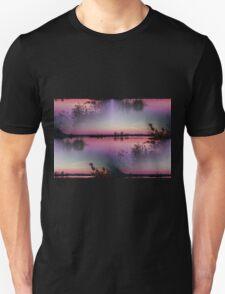 landscape lake at sunset Unisex T-Shirt