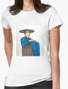 21st Century Hobo in suit bin waste-paper basket Womens Fitted T-Shirt