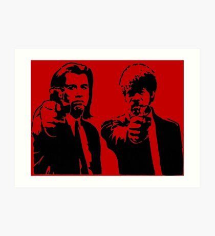 Pulp Fiction - Vincent and Jules Art Print