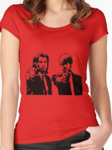 Pulp Fiction - Vincent and Jules Women's Fitted Scoop T-Shirt