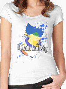 I Main Ludwig - Super Smash Bros Women's Fitted Scoop T-Shirt