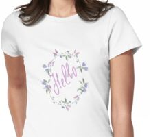 wreath blueberry  Womens Fitted T-Shirt