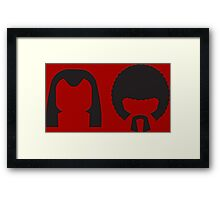 Pulp Fiction - Vincent and Jules hair layout Framed Print