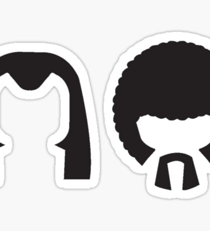 Pulp Fiction - Vincent and Jules hair layout Sticker