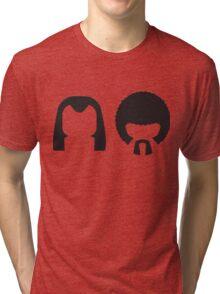Pulp Fiction - Vincent and Jules hair layout Tri-blend T-Shirt