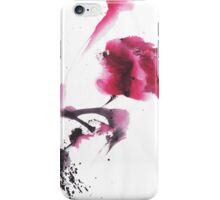 Chinese ink watercolor peony design iPhone Case/Skin