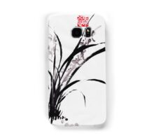 Japanese Orchid Design painted by Lee Henrik Samsung Galaxy Case/Skin