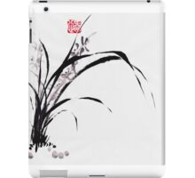 Japanese Orchid Design painted by Lee Henrik iPad Case/Skin