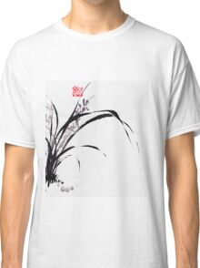 Japanese Orchid Design painted by Lee Henrik Classic T-Shirt
