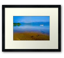 Tranquil Lake Painting of Loch Lomond Framed Print