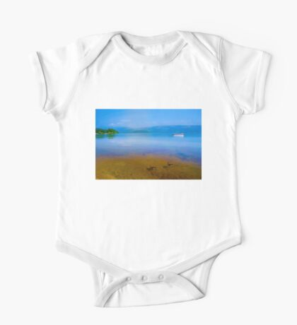 Tranquil Lake Painting of Loch Lomond One Piece - Short Sleeve