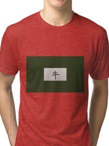 Chinese zodiac sign Ox green Tri-blend T-Shirt