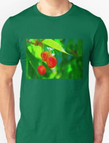 Red Cherries Painting Unisex T-Shirt