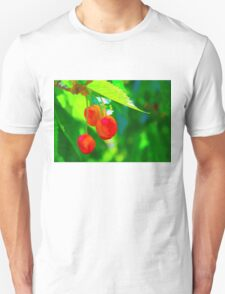 Red Cherries Painting T-Shirt