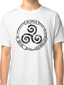 Alpha Beta Omega (Black) - Teen Wolf Classic T-Shirt