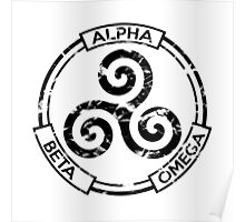 Alpha Beta Omega (Black) - Teen Wolf Poster