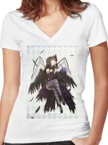 Puella Magi Madoka Magica Women's Fitted V-Neck T-Shirt