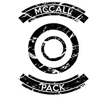 McCall Pack (Black) - Teen Wolf Photographic Print