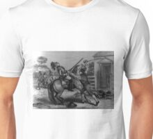 A patriot of 1776 defending his homestead - Currier & Ives - 1876 Unisex T-Shirt