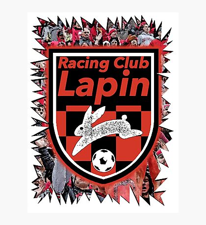 Racing Club Lapin - Jagged Sports Badge Photographic Print