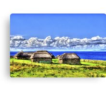 Black Houses Canvas Print