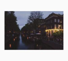 Springtime Amsterdam - Canalside Restaurant With a Terrace in Jordaan One Piece - Short Sleeve