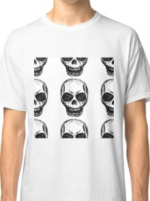Skull. Hand drawing illustration Classic T-Shirt