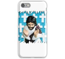 Fun Jesus - Blue iPhone Case/Skin