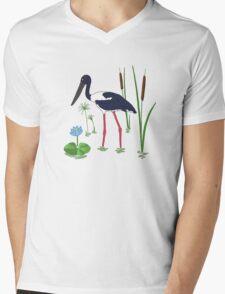 JABIRU - Black-Necked Stork Mens V-Neck T-Shirt